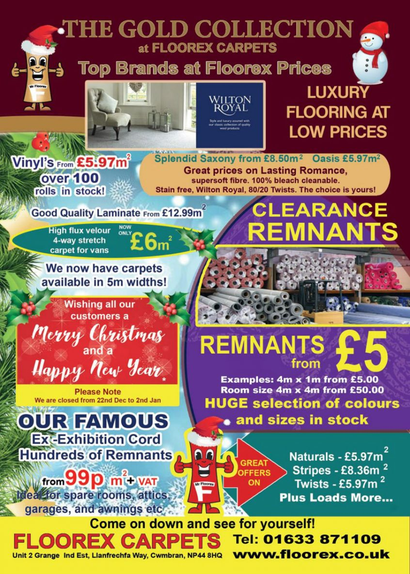 Floorex Xmas Go Local Advert